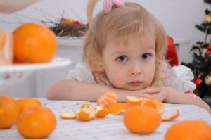 Аллергия на цитрусовые у ребенка